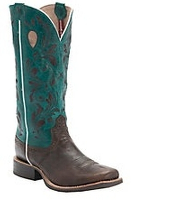 twisted x 174 ruff stock brown and teal boots