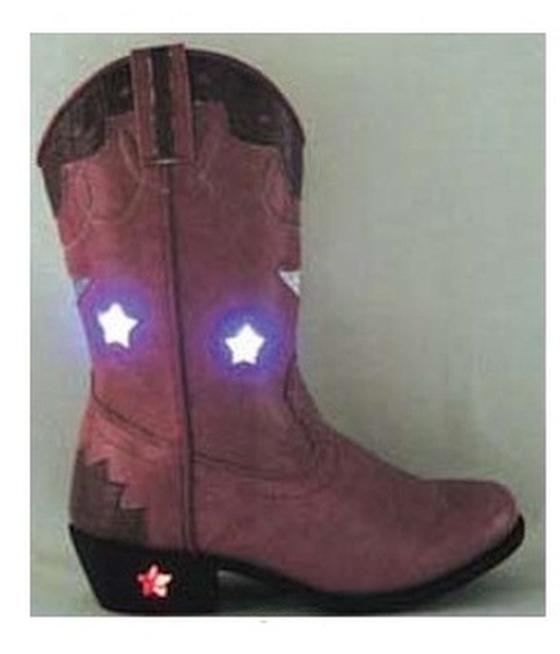 2af3bd4ed7c Smokey Mountain Pink Austin lights Light Up Kids Boots