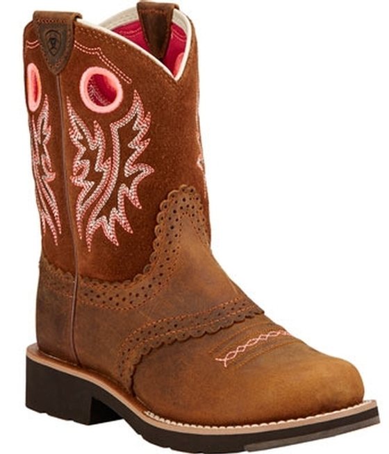 c7c815f6c26 Ariat® Youth Fatbaby Bell Cactus Western Boots
